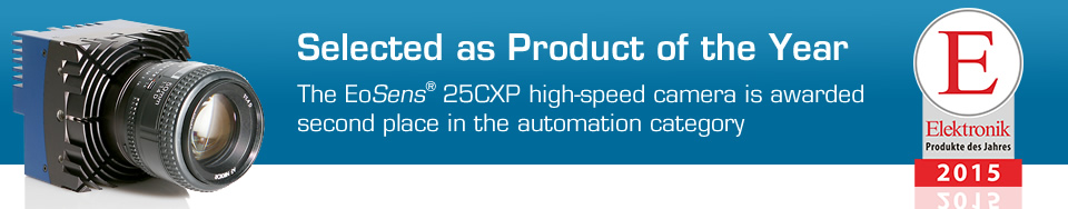 Product of the Year 2015 - Award for EoSens® 25CXP Machine Vision High-Speed Camera