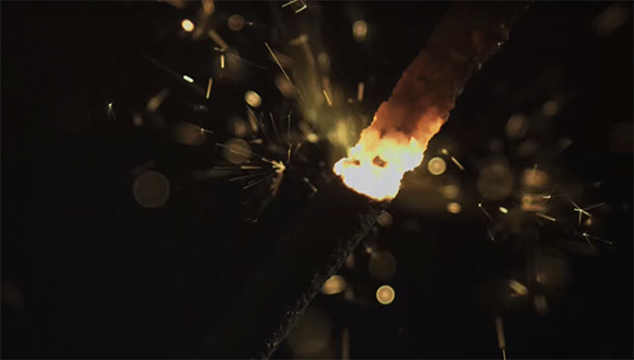 sparkler, slow motion, high-speed camera